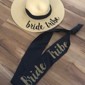 Bride tribe hat and sash
